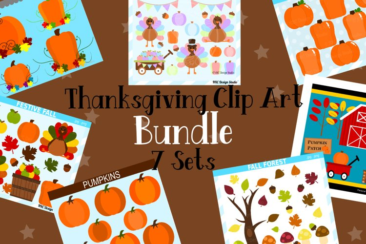 Thanksgiving Clipart Graphics Bundle, Illustrations, Clipart example image 1