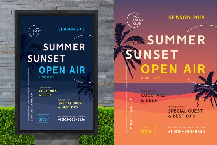 Summer Flyer/Poster Template example image 1