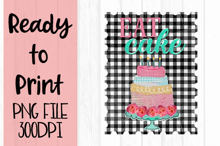 Eat Cake Ready to Print example image 1