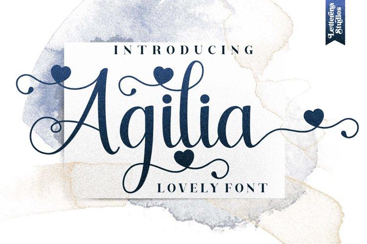 Agilia - Beautiful Lovely Script Font example image 1