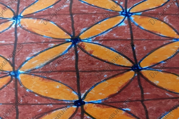 picture of a kind of batik motif in brown color example image 1
