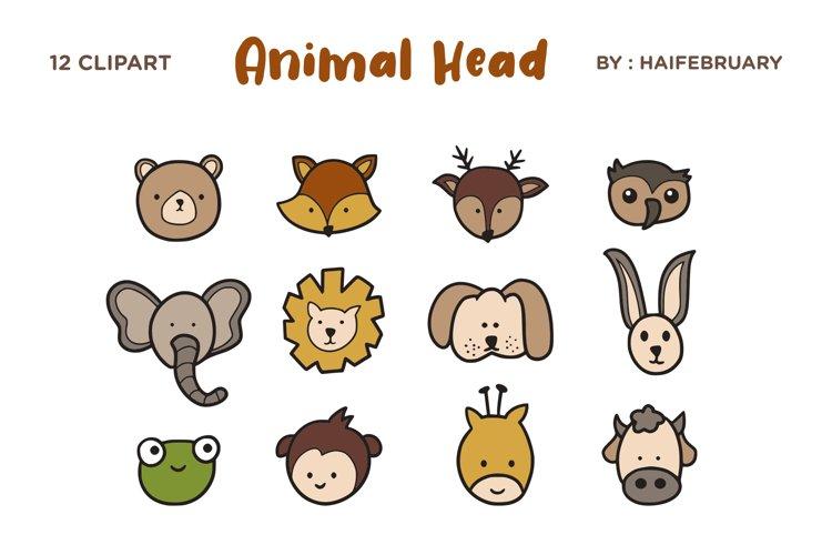 Animal Head Clipart Illustration Set