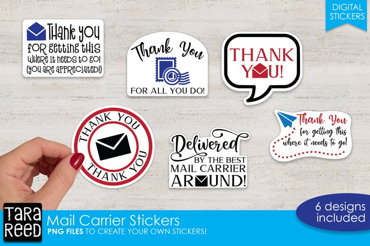 Sticker Bundle PNG - Mail Carrier Thank You