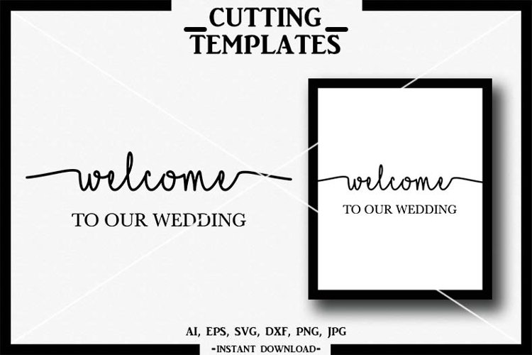 Welcome to our Wedding SVG, Wedding, Silhouette, Cricut, DXF example image 1