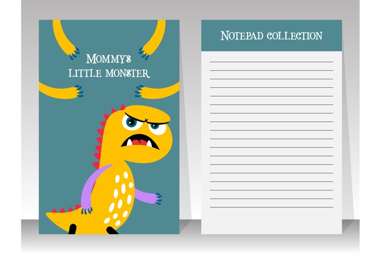 Planner template with yellow cartoon monster example image 1