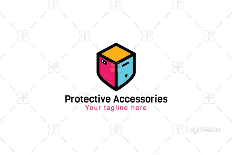 Protective Accessories - Mobile Store Logo Design example image 1