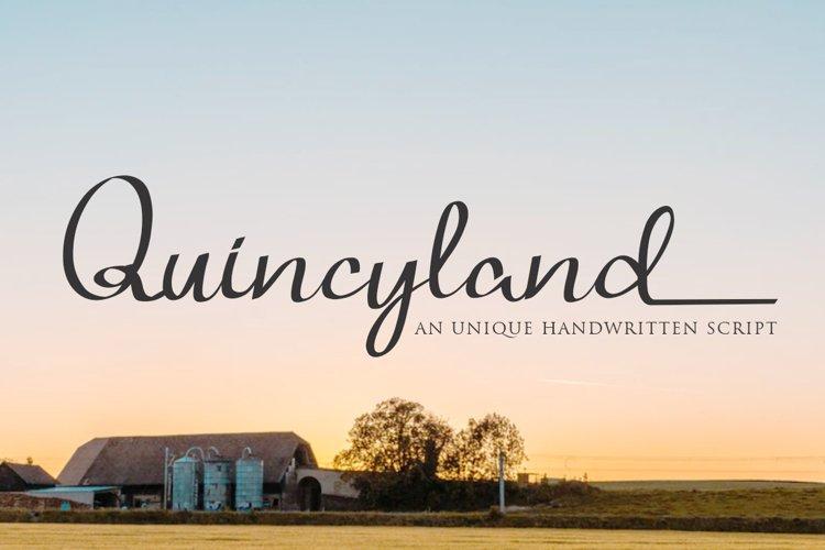 Quincyland an Unique Handwritten Script example image 1