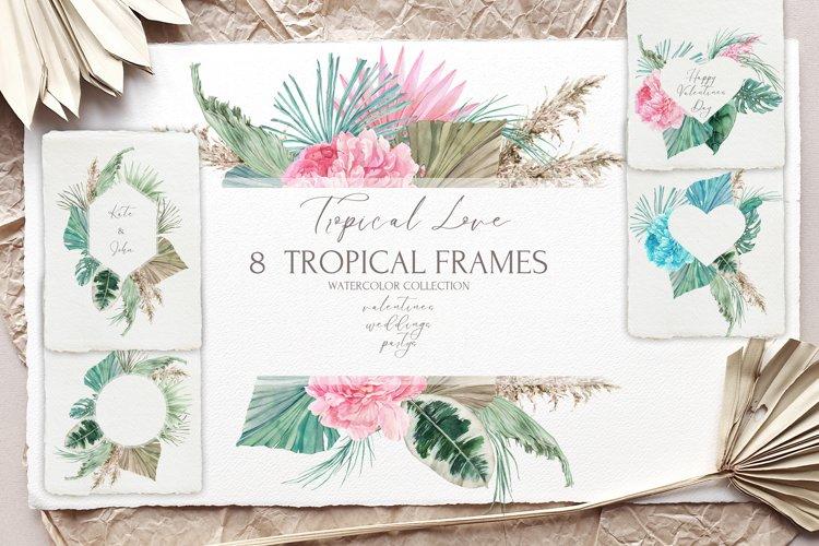 Tropical Wedding&Valentine's Frames example image 1