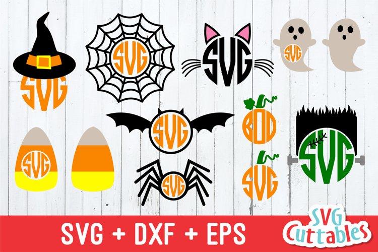 Halloween SVG   Halloween Monogram Frames example image 1