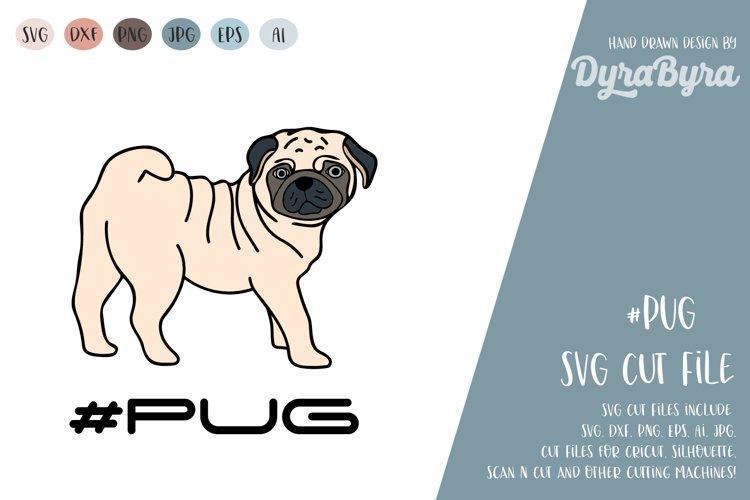 PUG Dog SVG / Mops SVG / Dogs SVG Vector File example image 1