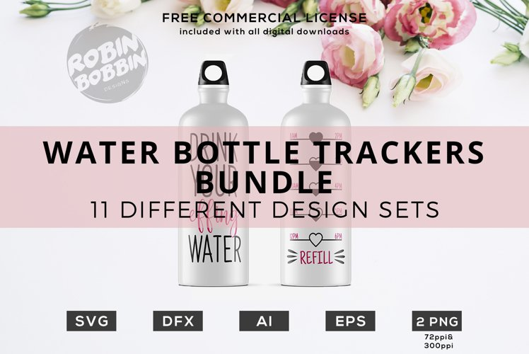 Water Bottle Trackers - SVG Bundle