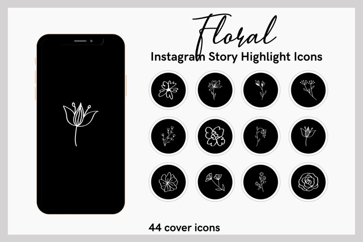 FLORAL Instagram Story Highlight Icons example image 1