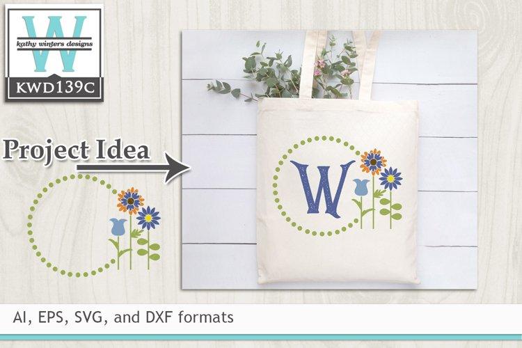 Gardening SVG - Gardening Monogram Frame example image 1