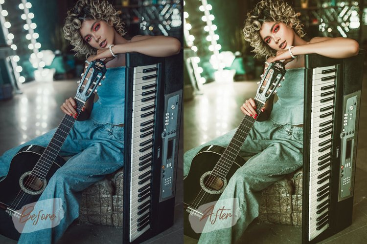 11 Retro Mood Photoshop Actions ACR LUT Presets example image 1