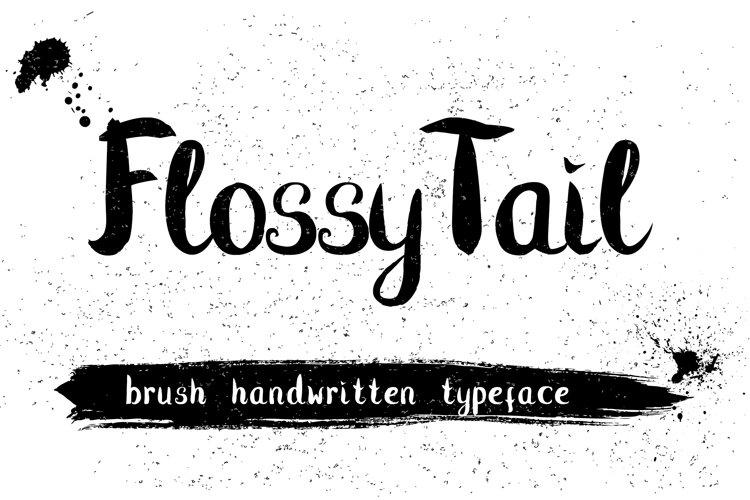 Flossy Tail brush handwritten font