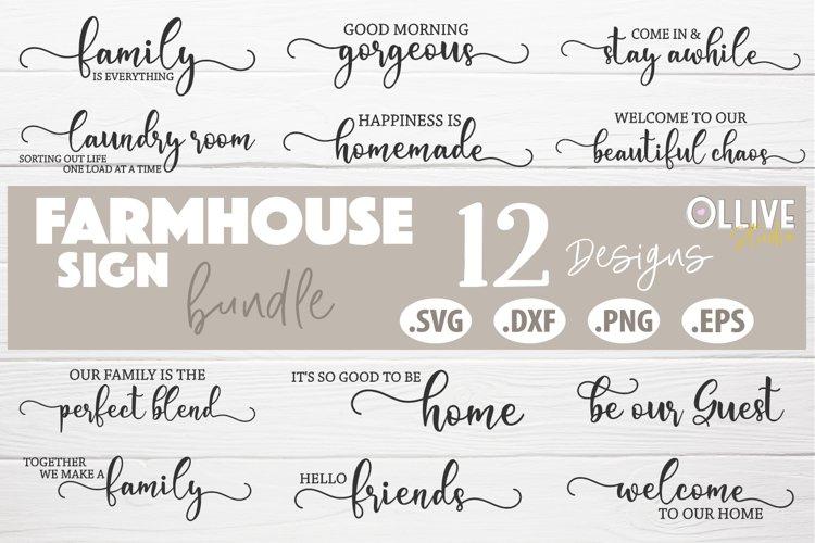 Farmhouse Sign Making Bundle SVG | Farmhouse 12 Designs example image 1