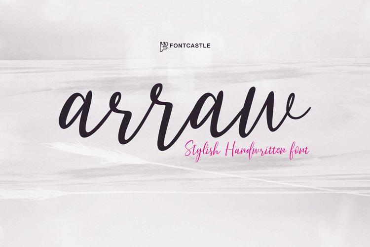arrow font example image 1