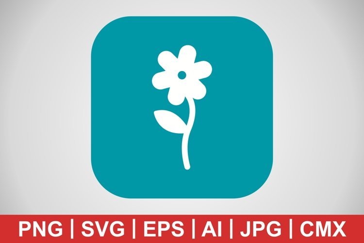 Vector Flower Icon example image 1