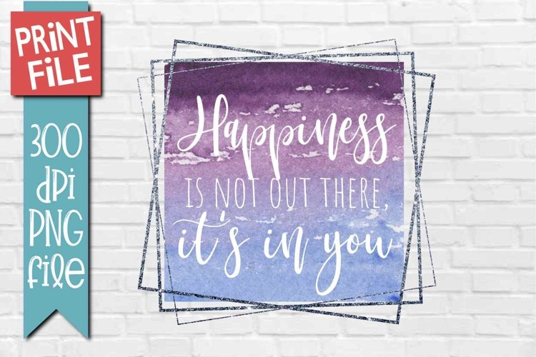 Motivational Quote Sublimation Design example image 1