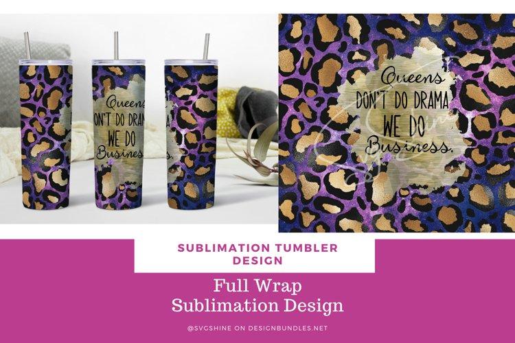20 oz Skinny Straight Tumbler Wrap Design Leopard Print