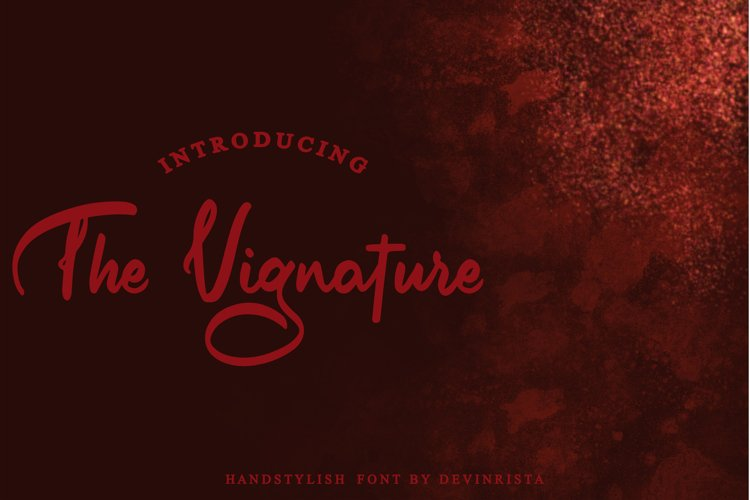 The Vignature Handstylish Font example image 1