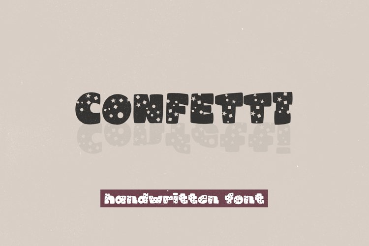Confetti - A Sparkling Handwritten Display Font example image 1