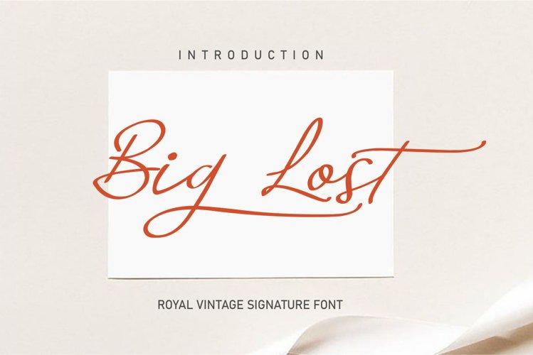 Big Lost | Vintage Signature Font example image 1