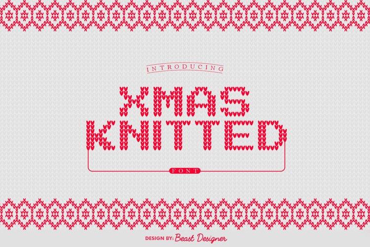 Xmas Knitted Font   Christmas Santa Ugly Sweater example image 1
