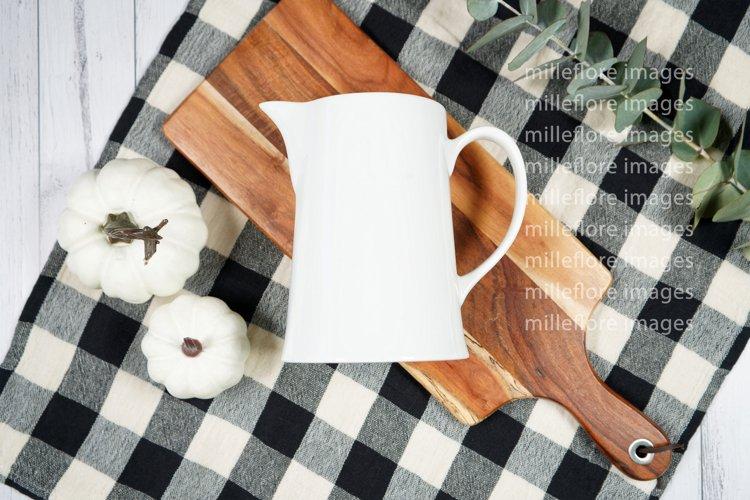 Farmhouse Milk Jug Flatlay Craft Mockups JPEG Styled Photo example image 1