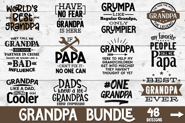 Grandpa Bundle, Fathers Day Svg, Papa Svg, Gramps, Pawpaw