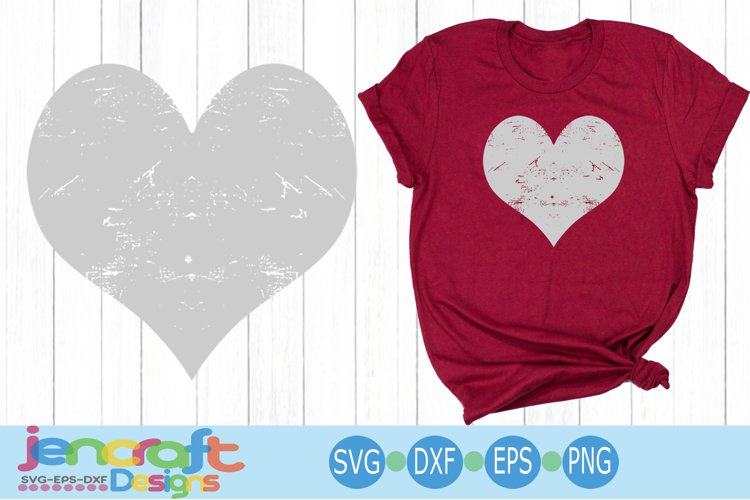 Distressed Heart, Grunge Valentine SVG Cut file