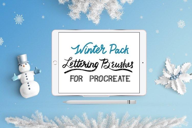 Procreate Lettering Brushes   Winter Pack Bonus