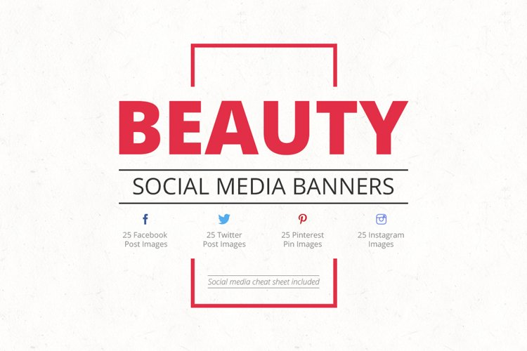 Beauty Social Media Banners example image 1