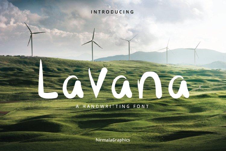 Lavana - Handwritting Font example image 1