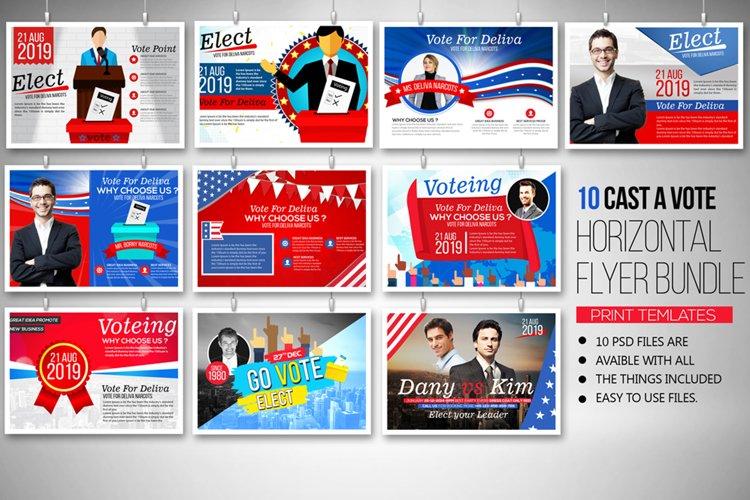 10 Horizontal Election Voting Flyers Bundle example image 1