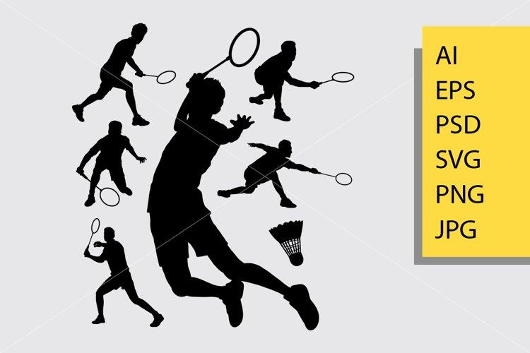 Badminton sport silhouette example image 1