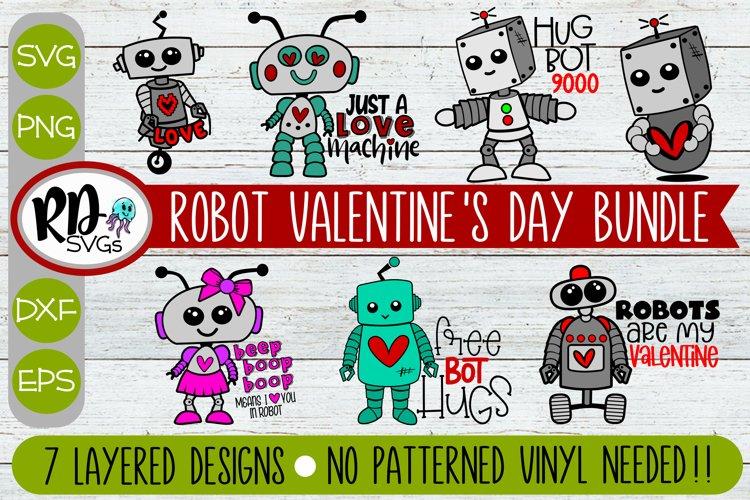 Robot Valentines Day Bundle - A Layered Cricut SVG Bundle