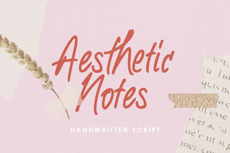 Aesthetic Notes - Handwritten Font example image 1
