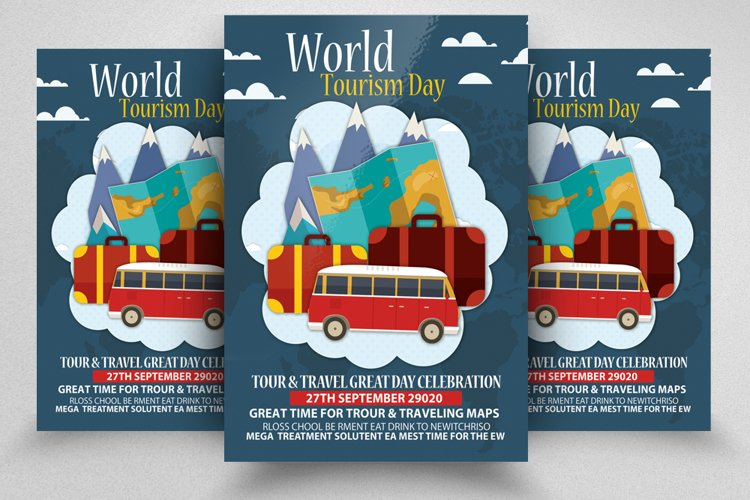 World Tourism Day Flyer/Poster example image 1