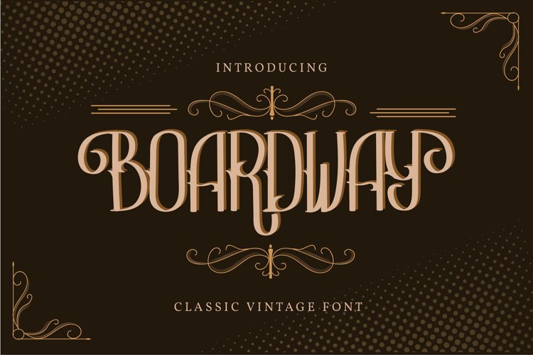 Boardway | Classic Vintage Font example image 1