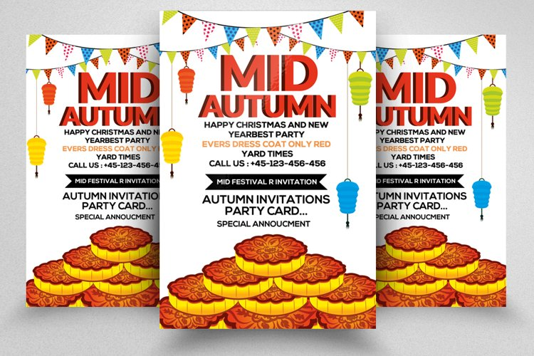 Mid Autumn Festival Flyer Template example image 1