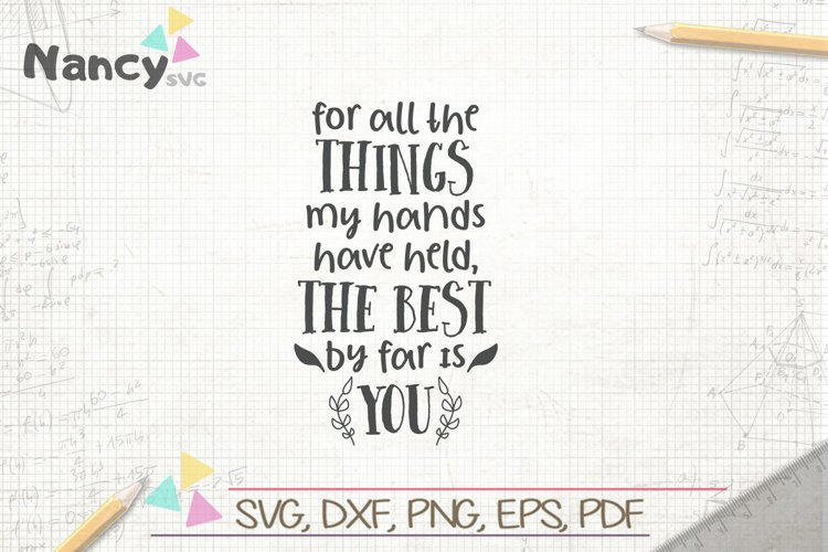 For All The Things My Hands Kids Playroom Quote Art example image 1