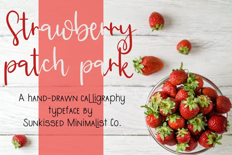 Web Font Strawberry Patch Park example image 1