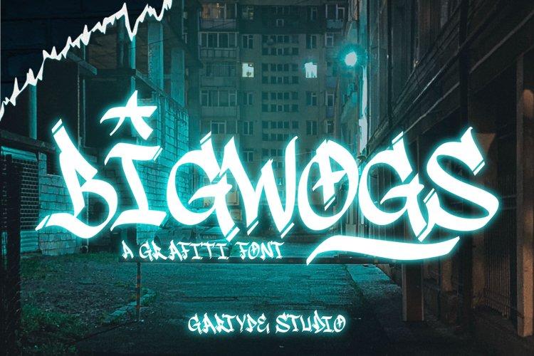 Bigwogs GT - Graffiti Font
