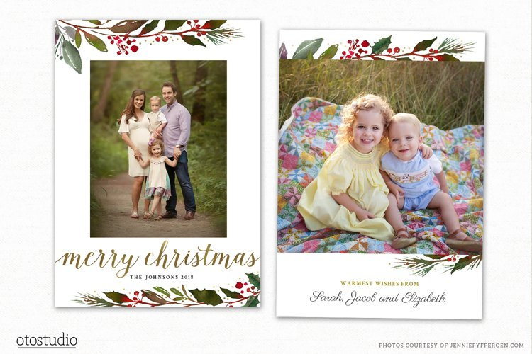 Christmas Card Template for Photographers CC190 example image 1