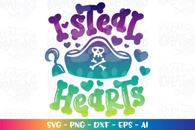 Valentines Day svg I steal hearts Pirate cute cut file
