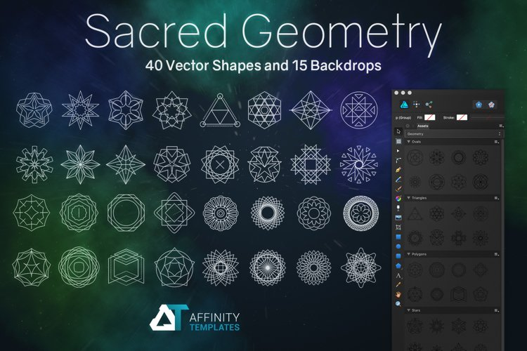 Sacred Geometry Vector Shapes Set