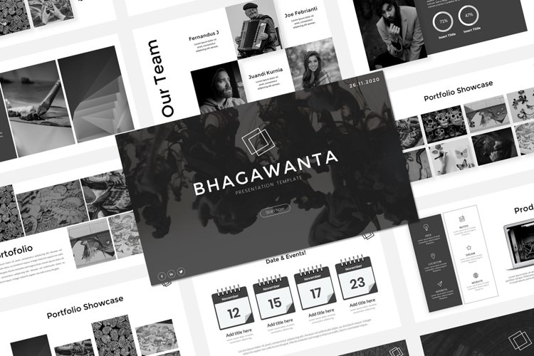 Presentation PowerPoint Template - Bhagawanta example image 1