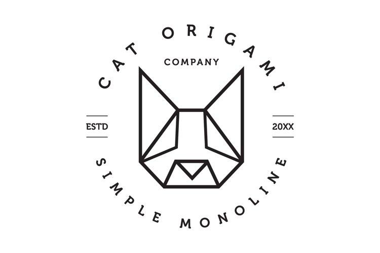 Cat Origami Logo example image 1