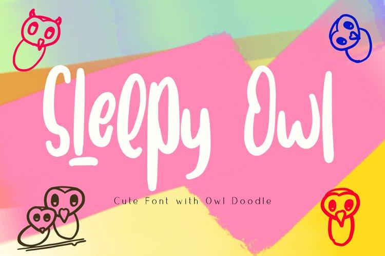 Sleepy Owl Fun Font example image 1
